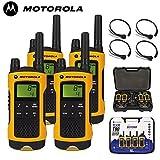 10Km Motorola TLKR T80 Extrem Zwei Weg Radio Walkie-Talkie Quad Reiseladegerät Packung mit 4 x...