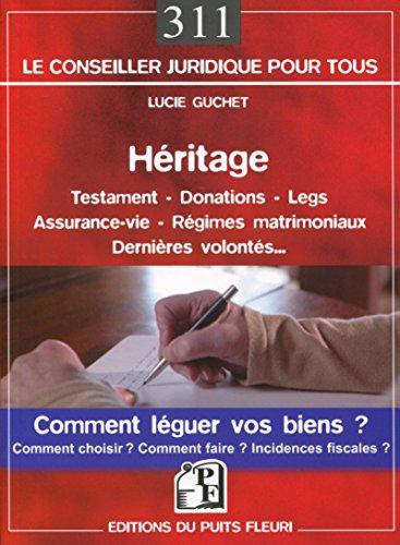 Héritage - Testament  - Donations: Comment léguer vos biens ? Comment choisir ? Comment faire ?  Incidences ficales ?