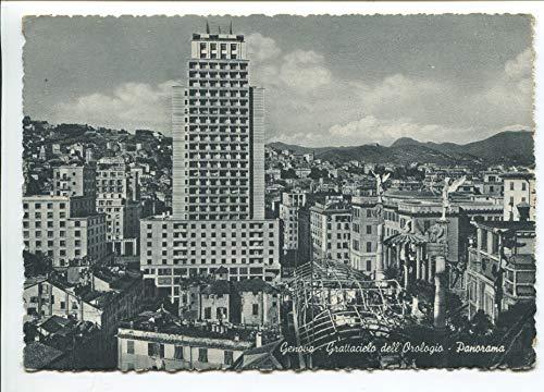 1956 Genova Grattacielo dell'orologio Panorama DEST. Stigliano Matera FG B/N VG