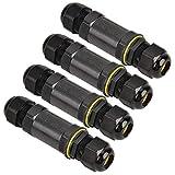 Artoper 4 Stück Kabelverbinder 3 polig, Kabelverbindungs-Box für den Außenbereich, Outdoor IP68, Kabel wasserdicht, Verbindungsbox (4 Pack)