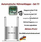 Automatische Hühnerklappe + Steckernetzteil + Zeitschaltuhr + Klappe - Neujahrsaktion vom Hersteller! !!