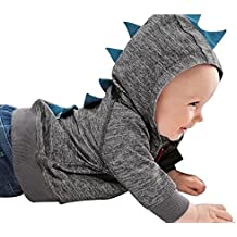 Ropa para Niños, Kukul Sudadera con capucha del modelo del dinosaurio Zipper Ropa