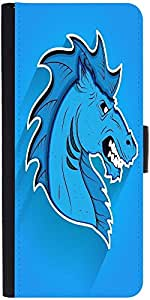 Snoogg Angry Horse Mascot Face Expression Designer Protective Flip Case Cover...