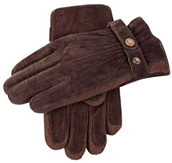Brown Pigsuede Gloves by Dents - Large