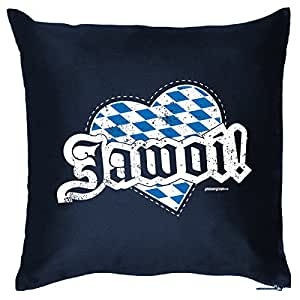 BAYERN Deko Kissen ::: Jawoi! ::: Navy-Blau