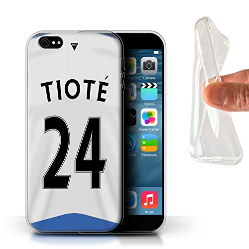 Offiziell Newcastle United FC Hülle / Gel TPU Case für Apple iPhone 6S+/Plus / Pack 29pcs Muster / NUFC Trikot Home 15/16 Kollektion Tioté
