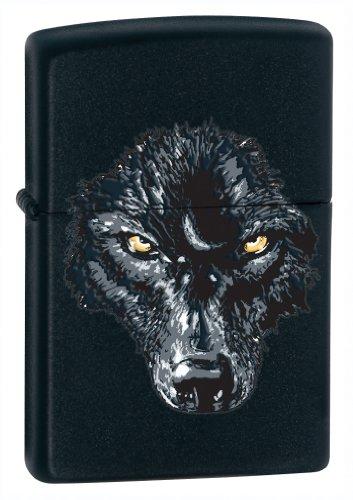 Zippo black wolf lighter negro mate/negro