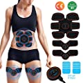 [2018 New upgrade] EMS Muscle Stimulator,Abs Trainer, Abdominal Toning Belts Muscle Toner Gym Workout And Home Fitness Apparatus for Men & Women,Extra 10 Gel Pads