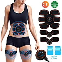 EGEYI [2019 New upgrade] EMS Muscle Stimulator,Abs Trainer, Abdominal Toning Belts Muscle Toner Gym Workout And Home Fitness Apparatus for Men & Women,Extra 10 Gel Pads
