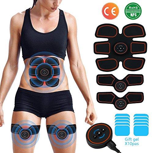 DALEMY Electroestimulador Muscular Abdominales, Masajeador Eléctrico Cinturón,EMS Ejercitador Musculardel Cuerpo de los Músculos de Brazos y piernas para Hombre o Mujer,Brazo y Abdomen en Casa