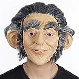 RUNTAR Deluxe Latex Human Head Homme avec cheveux Mask Costume d'Halloween orang-outan Masque primitif singe singe singe