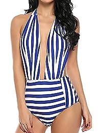 62711d23dd LMMET Costume da Bagno Donna Intero Sexy Brasiliana Costumi Interi A Fascia  Donna Bikini Intero Perizoma Costume da Bagno Donna Intero Push…