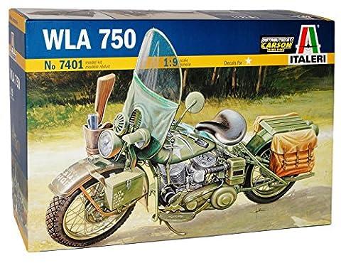 Harley Davidson HD WLA 750 US Arme 2. Weltkrieg 7401 Kit Bausatz 1/9 Italeri Modell Auto Modell (Bausatz Harley Davidson)
