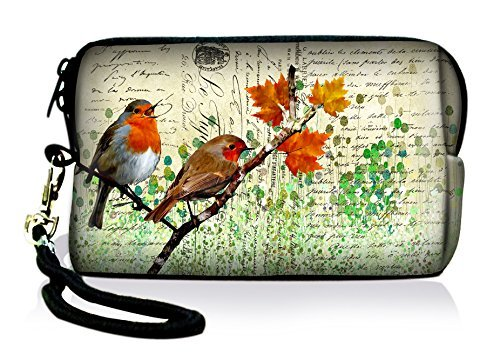 Cute Birds Fashion High Quality Soft Mini Neoprene Sleeve Soft Digital Camera Bag Mobile Phone Bag Coin Purse Case Cover Pouch w/Stra p For Fujifilm Finepix /Nikon Coolpix /Canon PowerShot /Olympus VR /iPhone,Ipod,MP3 MP4 MP5 /panasonic lumix /Kodak Easyshare /Sony Bloggie /Samsung Casio FY-HDC-020  available at amazon for Rs.1277