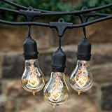 LIVIVO ® Waterproof Extendable Outdoor String Light with 9 Hanging Sockets – Fully Waterproof and Weatherpoof for Indoor and Outdoor Use – Perfect for The Garden, Patio and Decking, Gazebos or decoration at Weddings, Parties, Restaurants or along Rooftops – Connect up to 5 Sets – Bulbs not Included