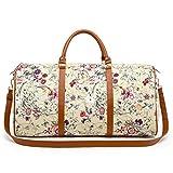 LeahWard Women's Floral Weekend große Reisetasche Handgepäck Handtasche Gym Urlaub Taschen (Beige)