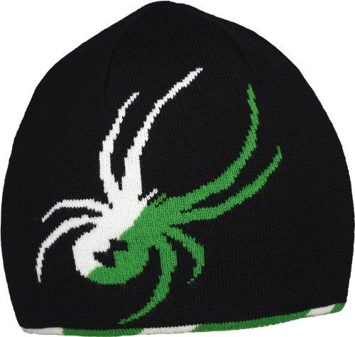 Spyder Herren Mütze Reversible Innsbruck Hat, Herren, Black/Gad/White (Stirnband Kaltes Wetter Reversible)