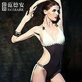 Maillot de petites particules de poitrine sexy back-costume de bain femme noir conservateur San Sau la pauvreté plage fine vidéo maillot de bain