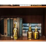 Sammsara Harvey Table Top Set Of 3 Gold Glass Decorative Bottle For Table,Living Room,Office,Interior.Glass Bottles For Decoration(9,8,7 Inches)