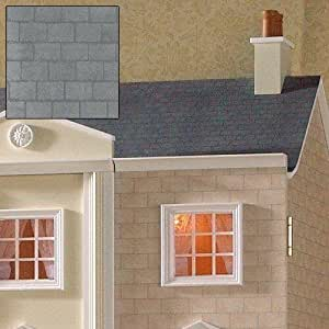 The Dolls House Emporium Grey Slate Roof Paper