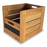 Tafelbox, Holzbox 30 offen in Eiche (Eiche hell)