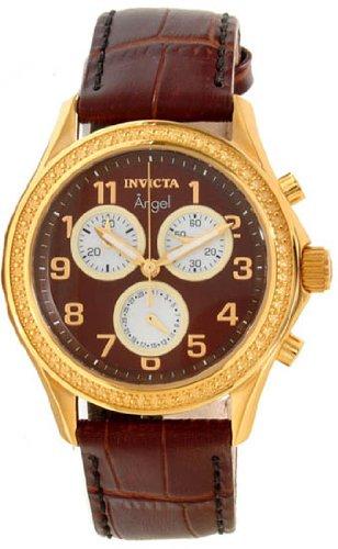 Armbanduhr Armband Leder Braun Schweizer Quarz 12989 ()