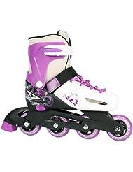 Enfants réglables Roller Roller Skates pour 33–36ou 37–40en noir/rouge ou violet/blanc