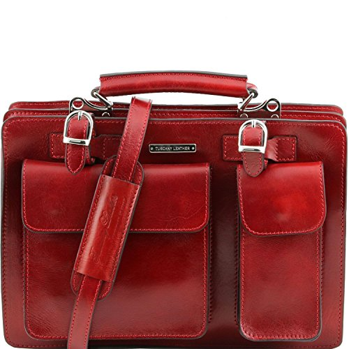 Tuscany Leather - Tania - Damenhandtasche aus Leder - Gross Honig - TL141269/3 Rot