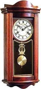 720123 orologio a pendolo in legno da parete con movimento for Orologio legno amazon