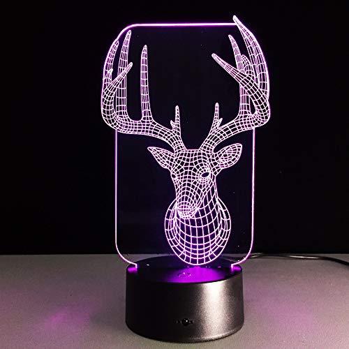 3D LED Nachtlampe 7 Farben USB Tisch Schreibtischlampe Für Kinder Freunde Geburtstagsfeier Geschenk...