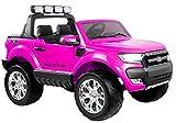 Lean Toys Elektroauto für Kinder Ford Ranger Rosa 4x45W 2x12V7Ah LCD Panel Eva-Reifen
