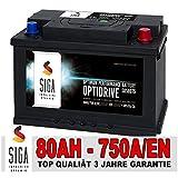 SIGA Autobatterie 80AH 12V 750A/EN - ersetzt 70Ah 72Ah 74Ah 75Ah 77Ah Batterie