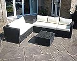 PKL Leisure Mixed Brown Rattan Outdoor Garden Furniture Corner Sofa Storage Box