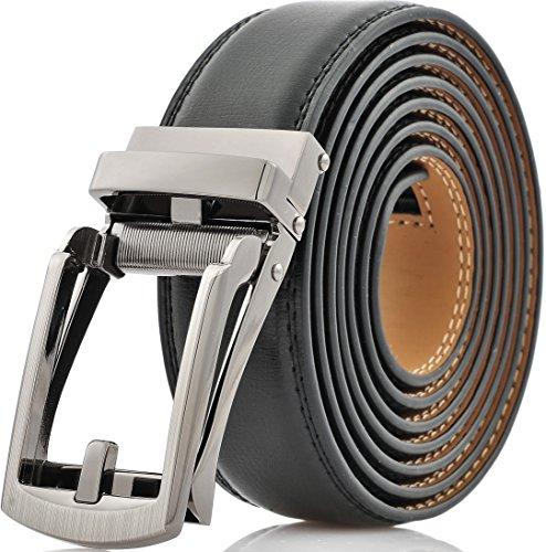 marino-avenue-cinturon-para-hombre-negro-silver-open-buckle-with-black-leather-medium