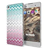 NALIA Coque Protection Compatible avec Sony Xperia XA, Motif Housse Silicone Premium Case Smart-Phone Back-Cover Ultra-Fine Souple Gel Slim Anti-Choc Bumper Mince Etui, Designs:Colorful Lines