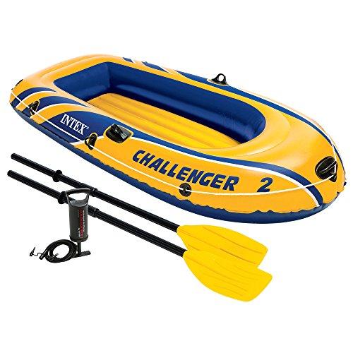 Preisvergleich Produktbild Intex Schlauchboot Challenger 2 Set Phthalates Free Inkl. Paddel und Luftpumpe, 68367np