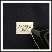 PERSONALISED IRON-ON NAME LABELS x 50 Ideal For School Uniforms, Sports Kits, Care Homes and Nursing Homes