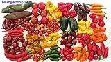 Traumgarten2014 Chili Set 20 Sorten mild bis ultrascharf Weltrekord scharf Carolina Reaper Samen Chilli Saatgut
