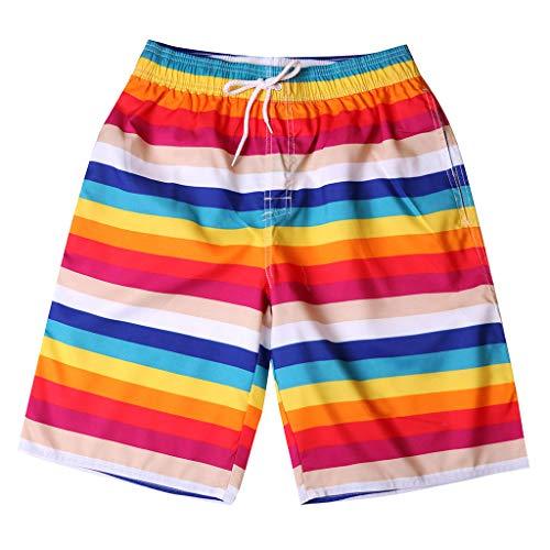 EUZe Herren Swim Shorts Trunks Trocknen Casual Funny Drucken Badehosen Schnell am Strand Surfen Laufen Schwimmen Watershort Trainingsanzug Anglerhose Boardshorts