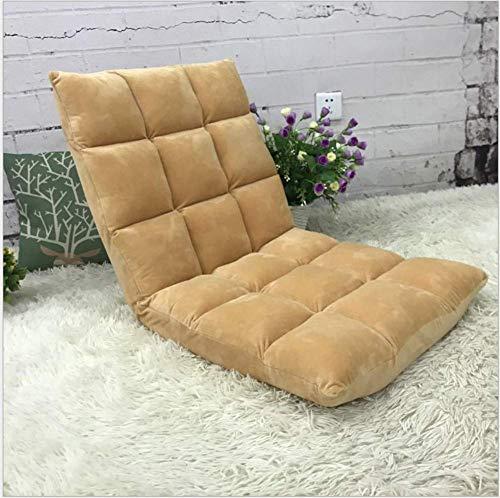 sch, Lesen Yoga-Spiel Meditation Klavier gepolsterter Stuhl mit Verstellbarer Rückenlehne Stützstuhl Boden Stuhl ohne Bein-E ()