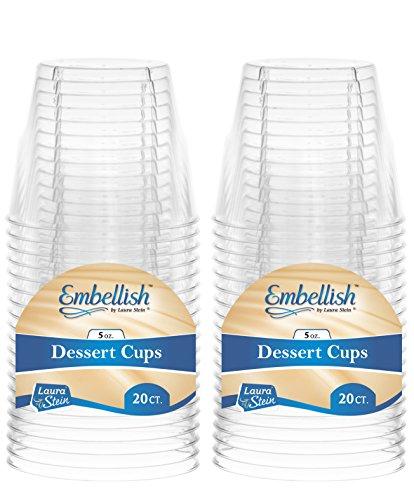 Embellish Crystal Clear Hartplastik 2oz, 142 ml, Fancy Dessertbecher 5 oz Dessert Cup 2 Pack (40) 5 Dessert