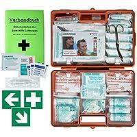 Erste-Hilfe-Koffer M6 PLUS DIN/EN 13169 -Paket 1- für Betriebe ab 50 Mitarbeiter inkl. Verbandbuch & 3 FOLIENAUFKLEBER preisvergleich bei billige-tabletten.eu