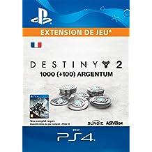 1000 (+ 100 en bonus) Argentum de Destiny 2 [Code Jeu PS4 - Compte français]