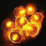 Kingwin étanche Bougie lumière Mariage de Saint-Valentin sous l'eau rechargeable LED bougie chauffe-plat 8pcs jaune