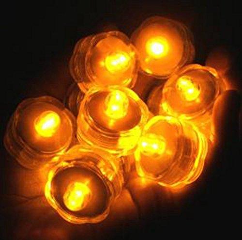 Kingwin resistente al agua luz de las velas boda de San Valentín Día bajo el agua recargable LED té luz 8 piezas amarillo