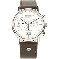 Bruno Söhnle Men's Quartz Watch with Rondo Graph Chronograph Quartz Leather 17-13135Pump