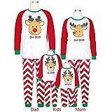 TianWlio Baby Weihnachten Pyjamas Bekleidung Baby Weihnachten Outfit Baby Mädchen 3PCS Weihnachts Kleinkind Baby Karikatur Rotwild Druck Spielanzug + Pants + Hut Familien Kleidung