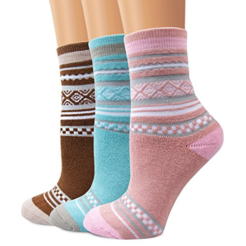 Crew Wolle Kleid-socken (Cute Cartoon Socken, moliker Thermo Socken Verschiedene Designs/Farben Unisex Erwachsene Socken Gr. One size, A016)