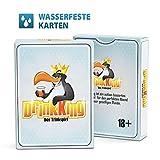 DrinkKing wasserfeste Karten - Das Trinkspiel ab 18 mit Plastikkarten / Ein Partyspiel für Erwachsene / Lustige Geschenke für Männer / Auch super als Geburtsgeschenk für Männer / Für witzige Party