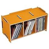 Werkhaus Medienbox CD - ''Goldgelb'' | Aufbewahrungsbox | CD Aufbewahrung | Ordnungssystem | Box für CDs | Geburtstagsgeschenk | Stapelbare Aufbewahrungsboxen | Preis am Stiel®
